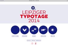 Leipziger Typotage 2014 website