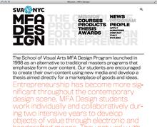 School of Visual Arts MFA Design