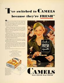 """Camel ad: """"I've switched to Camels because they'refresh"""""""