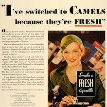 "Camel ad: ""I've switched to Camels because they're fresh"""