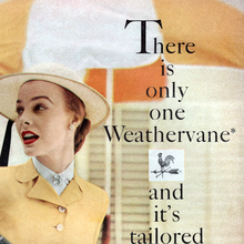 "Handmacher ad: ""There is only one Weathervane"""