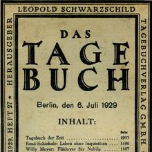 <cite>Das Tage-Buch</cite>, by Leopold Schwarzschild (Ed.)