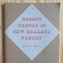 <cite>Recent Trends in New Zealand Poetry</cite>
