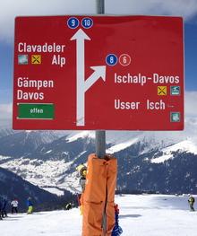 SNV ski signage