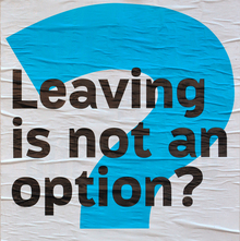 <cite>Leaving is not an option?</cite> at HAU