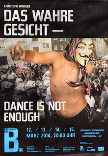 <cite>Das wahre Gesicht – Dance is not enough</cite> at Ballhaus Ost