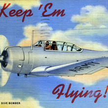 """Keep 'Em Flying"" US Air Corps postcards"