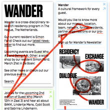 Wander website