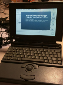 RoboFog on a PowerBook 180