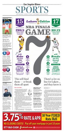 <cite>Los Angeles Times</cite> Sports: 2010 NBA Finals
