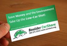 Boulder CarShare promotion