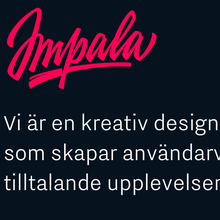 Impala Designbyrå website