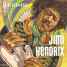 <cite>Jimi Hendrix</cite> Forever® US postage stamp