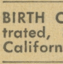 Classified ad for birth control literature