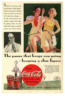 """The pause that keeps you going – keeping a slim figure"" Coca-Cola ad"
