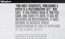 """Greenland Melting""<cite>,</cite> <cite>Rolling Stone</cite> feature website"