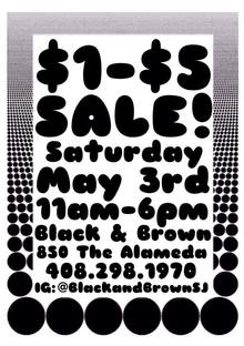"Black & Brown ad: ""$1–$5 Sale!"""