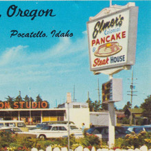 Elmer's Pancake & Steak House postcard
