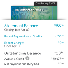 American Express iPhone app