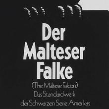 <cite>Der Malteser Falke</cite> movie poster