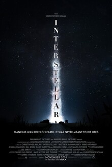<cite>Interstellar</cite> movie posters and main title