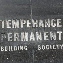 Temperance Permanent Building Society sign