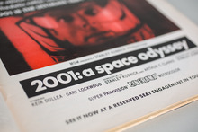 Ad for <cite>2001: A Space Odyssey</cite> in <cite>Playboy</cite> magazine
