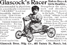 Glascock's Racer ad