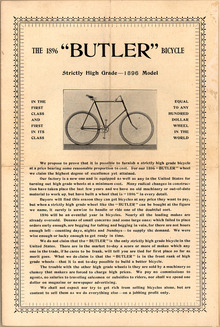 The 1896 Butler Bicycle