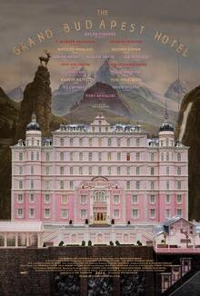 <cite>The Grand Budapest Hotel</cite> poster and props