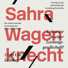 Sahra Wagenknecht Lecture Poster