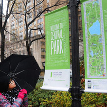 New York City Central Park identity & signs