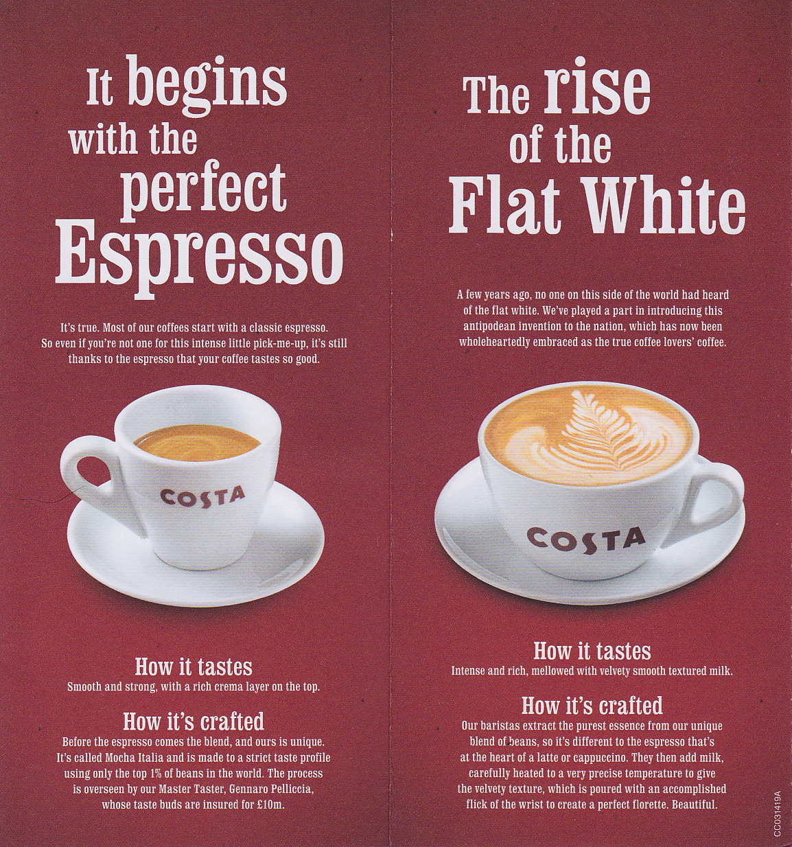 Costa Coffee Fonts In Use