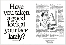Filmcomposition ads for Typsettra typefaces