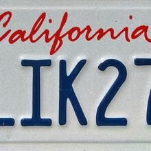 California License Plate (script, 1993–)