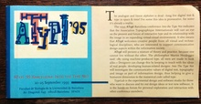 ATypI 1995 Barcelona program