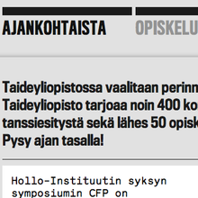 University of the Arts Helsinki website