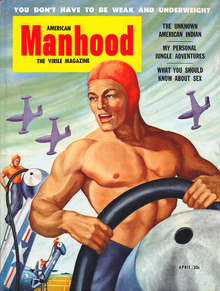 <cite>American Manhood</cite> covers
