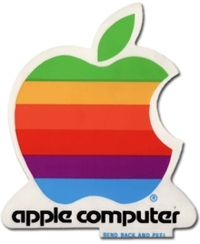 Apple Computer logo sticker