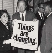 """""""Things are changing."""" campaign"""
