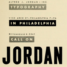 Alfred J. Jordan, Inc. ad