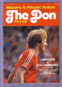 UEFA Aberdeen Programmes