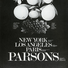 Parsons School of Design catalogs, 1982–84