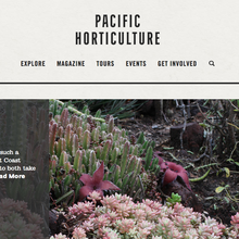 <cite>Pacific Horticulture</cite> website