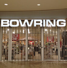 Bowring shop sign