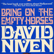<cite>Bring on the Empty Horses</cite> book cover