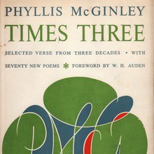 <cite>Phyllis McGinley, Times Three</cite>