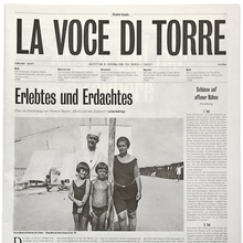 <cite>La voce di Torre</cite>: programme for the play <cite>Mario und der Zauberer</cite>