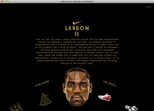 <cite>Lebron 11</cite> website