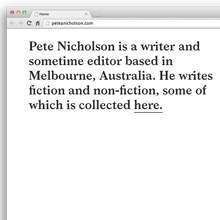 Pete Nicholson Website